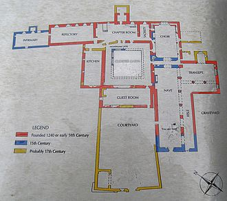 Timoleague - Floor Plan and Dates for Timoleague Friary