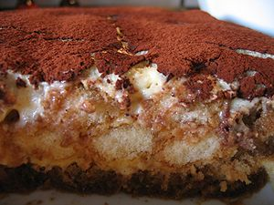 Tiramisu, a well-known dessert from the Veneto...