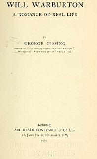 <i>Will Warburton</i> novel by George Gissing