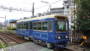 Toei 7700 series - Image: Toei 7700 7703 Toden zoshigaya 20160820