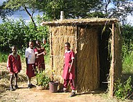 Ventilated Arborloo Built by pupils in Chisungu school. Photo by: Peter Morgan in Feb. 2008, Epworth-Zimbabwe