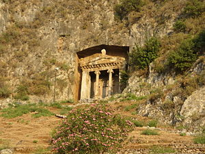 Tomb of Amyntas - The tomb of Amyntas in Fethiye