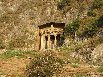 Fethiye - The Tomb of Amyntas in Fethiye.