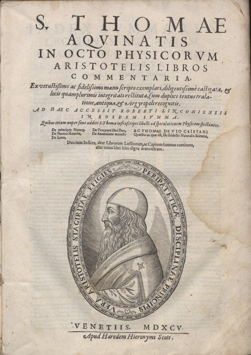 Tommaso - Super Physicam Aristotelis, 1595 - 4733624