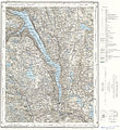 Topographic map of Norway, E35 aust Tinnsjø, 1974.jpg