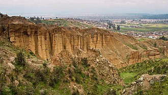 Huancayo Province - Turi Turi (Torre Torre) rock formations near the city of Huancayo
