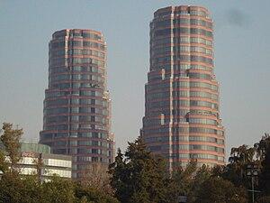 Español: Torres gemelas de Polanco, en la Ciud...