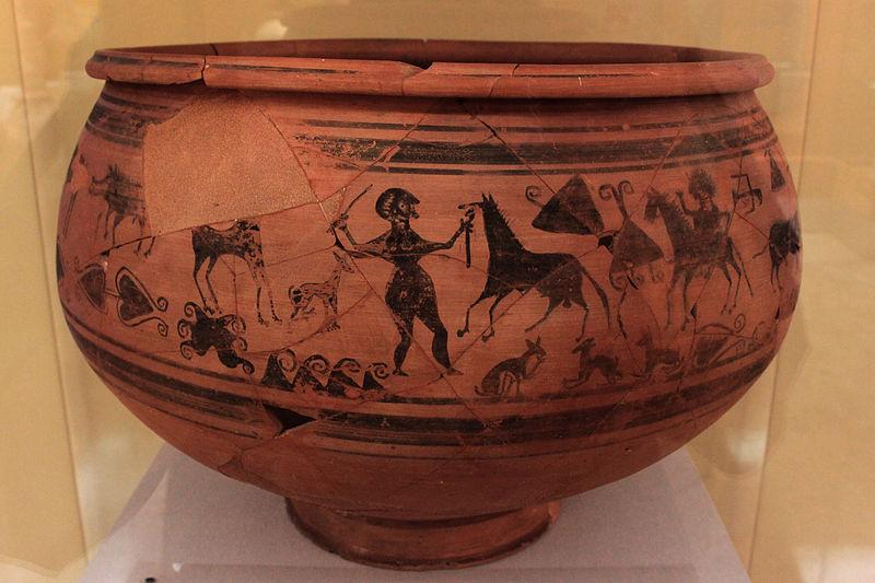 Vaso de la Doma, cerámica decorada de Tosal de San Miguel.