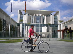 Tourist before the German Chancellory.jpg