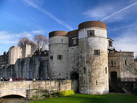 The main entrance to the Tower of London. Today the castle is a popular tourist attraction. Tower of London main entrance, 2009.jpg