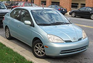 2000-2003 Toyota Prius photographed in USA.