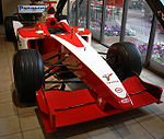 The first Formula One test car of Toyota, the TF101 (2001)