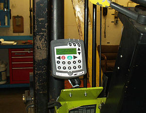 Tracking system - Tracking-system on a forklift
