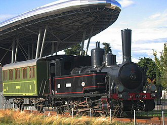 Palavas-les-Flots - The historical train from Montpellier to Palavas, now exhibited in Montpellier