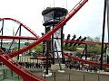 "Train going through the ""Keyhole"" on X-Flight at Six Flags Great America.jpg"
