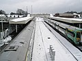 Trains arriving and departing at a snowy Havant Station - geograph.org.uk - 754190.jpg