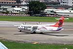 TransAsia Airways ATR 72-212A B-22820 Taxiing at Taipei Songshan Airport 20150908c.jpg