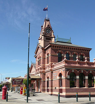 Traralgon - The current Post Office building, a local landmark, was completed in 1886
