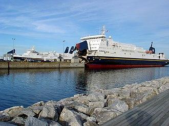 Marine Atlantic - Marine Atlantic ferries Leif Ericson (right) and Joseph and Clara Smallwood.