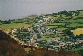 Trefor - Overlooking Trefor village and beach