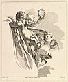 Trois Amours dont un tient un couronne, de Quatrième Livre de Groupes d'Enfans MET DP825514.jpg