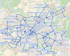 Trolleybus map of Minsk (Belarus), December 2018, in English.png