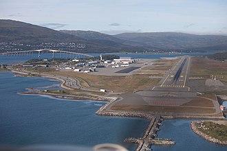Tromsø Airport, Langnes - Image: Tromsø airport, Norway