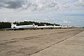 Tu-154 & Tu-134 line-up at Chkalovsky (8551966305).jpg