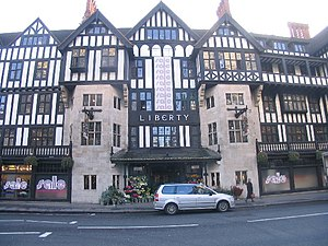 Great Marlborough Street - Arthur Lasenby Liberty built his eponymous department store in a Mock Tudor style.