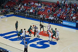 Tulane Green Wave men's basketball - Tulane in action against the SMU Mustangs in 2018