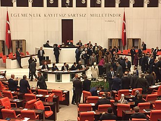 2017 Turkish constitutional referendum - MPs voting on the proposed amendments, January 2017