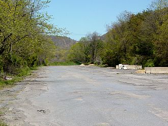 Interstate 76 (Ohio–New Jersey) - An abandoned portion of I-76 near mile marker 161 in Breezewood, Pennsylvania