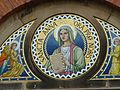Tympanum of St Anne's Catholic Church, Blackburn, Lancashire 02.jpg