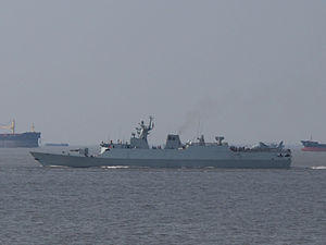 Type 056 corvette - Image: Type 056 corvette in Shang Hai