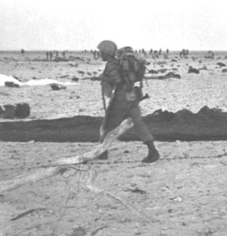 Paratroopers Brigade - An Israeli paratrooper in the Mitla Pass during the Suez Crisis
