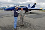 """U.S. Air Force Colonel George """"Dutch"""" Dietrich Speaks to Secretary Kerry About the F-A-18 Fighter Jets Used by the Blue Angels (28504762272).jpg"""