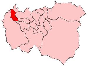 Gawthorpe (ward) - Gawthorpe Ward shown within Burnley