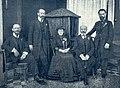 UK 1908 Zamenhof kaj edzino kun la tri fratoj Aleksandro Henriko kaj Leono.jpg