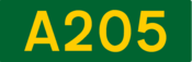 A205 road shield