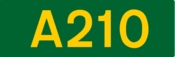 A210 road shield