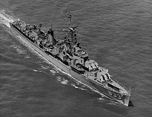 USS Herbert J. Thomas at sea on 13 June 1957