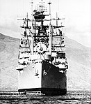 USS Mount McKinley (LCC-7) bow view 1969.jpg