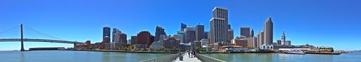 US - California - San Francisco - Pier 14 - Panorama - 2012.06.28 - Brylie Oxley