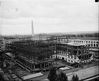 Eccles Building - The Eccles Building under construction in 1936