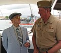 US Navy 040120-N-0879R-002 Pearl Harbor survivor Bill Johnson, talks with Rear Adm. Paul Sullivan, Commander, U.S. Submarine Force U.S Pacific Fleet.jpg