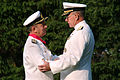 US Navy 041001-N-2383B-077 Chief of Staff, Argentine Navy, Adm. Jorge Omar Godoy is congratulated by Chief of Naval Operations (CNO) Adm. Vern Clark.jpg