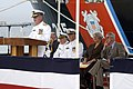 US Navy 041015-N-7293M-151 Commander, Fourteenth Coast Guard District, Rear Adm. Charles D. Wurster, speaks during the commissioning ceremony for the new Coast Guard cutter Sequoia (WLB 215).jpg