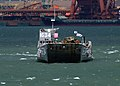 US Navy 060402-N-4124C-078 A Landing Craft Utility (LCU), launched from the amphibious dock landing ship USS Juneau (LPD 10) transports Amphibious Assault Vehicles (AAVs) to the pier in Pohang, Republic of Korea (ROK).jpg