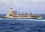 US Navy 081006-N-1082Z-025 The Military Sealift Command fleet replenishment oiler USNS Tippecanoe (T-AO 199) steams through the Indian Ocean after conducting a replenishment at sea.jpg