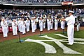 US Navy 090520-N-9013W-006 Members of the U.S. Navy Band perform for the crowd at the start of a New York Yankees baseball game against the Baltimore Orioles during a Fleet Week New York City 2009 event.jpg
